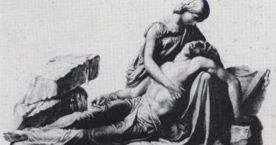 Mary and Percy Shelley Engraving by George Stodart after monument by Henry Weekes