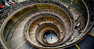 Spiral staircase, Vatican Museum