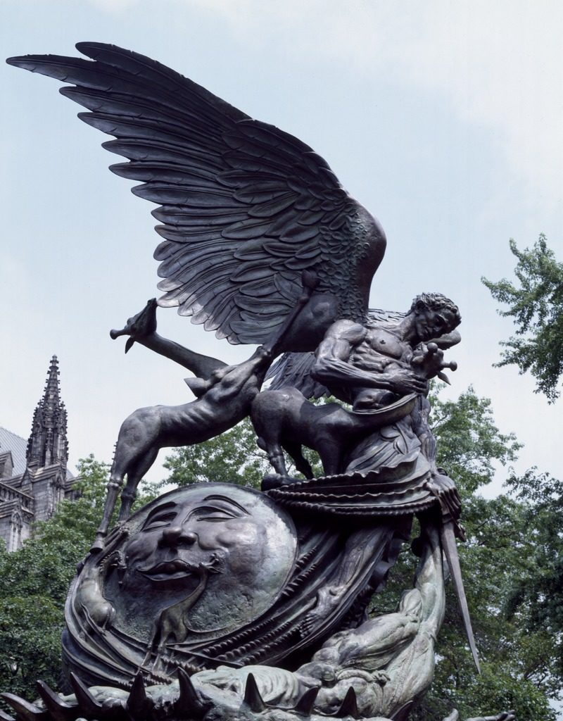Statue of Good and Evil, Cathedral of St. John the Divine, NY, NY