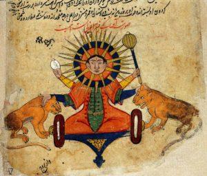 The Sun from a Persian Manuscript 373 CE