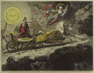 Light Expelling Darkness James Gillray